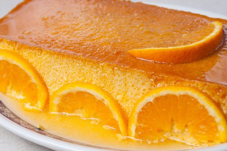 Pudim de Coco e laranja EL MANDARIN